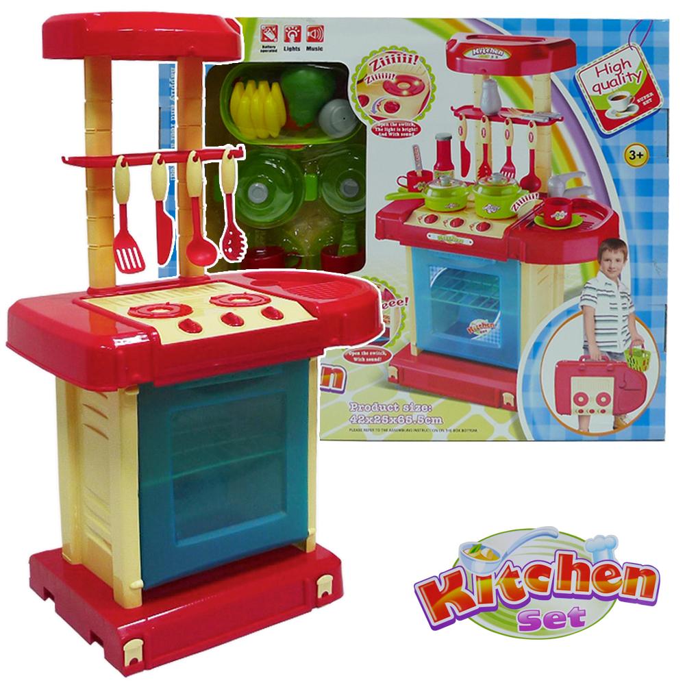 手提式聲光音樂廚具台組008-56A(藍色)
