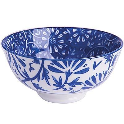 EXCELSA Oriented瓷餐碗(花卉藍12cm)