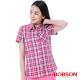 BOBSON  女款桃紅藍格子襯衫 product thumbnail 1