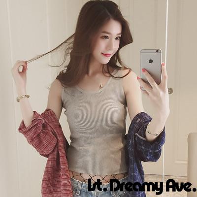 簡約純色直紋理背心 (共四色)-1st. Dreamy Ave.