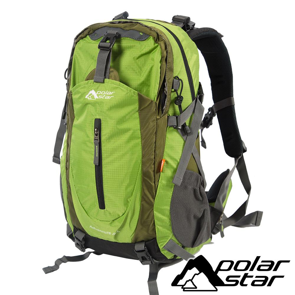 【PolarStar】透氣網架背包40L『蘋果綠』(附防雨罩) 登山│健行 P17806