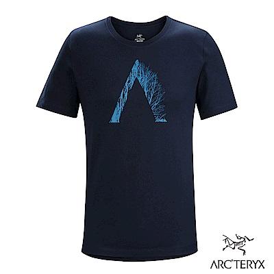 Arcteryx 始祖鳥 24系列 男 有機棉 Regenerat 短袖T恤 藍