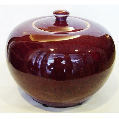 【6兩紫鈞釉聚寶盆】 茶葉罐 瓷器