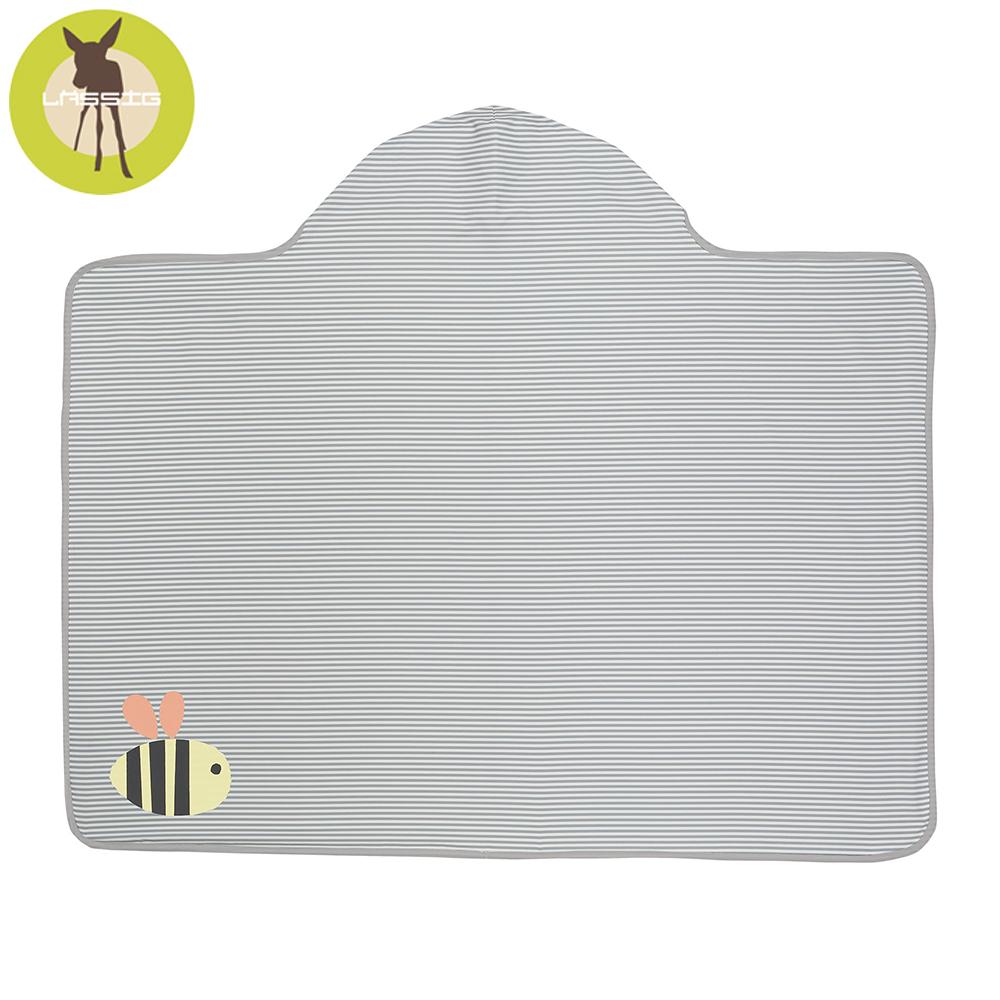 德國Lassig-嬰幼兒抗UV連帽快乾毛巾-小蜜蜂
