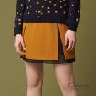 OUWEY歐薇 北歐簡約配色褲裙(黃)