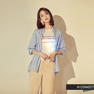 H:CONNECT 韓國品牌 女裝 -個性標語柔軟T-Shirt-白