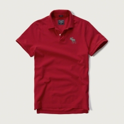 AF a&f Abercrombie & Fitch 短袖 POLO 紅色 184