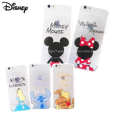 Disney迪士尼iPhone 6/6S(4.7)可愛透明保護軟套-背影