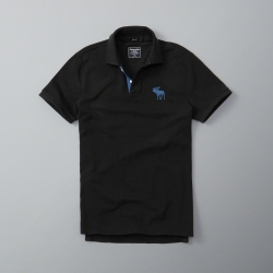 AF a&f Abercrombie & Fitch 短袖 POLO 黑色 188