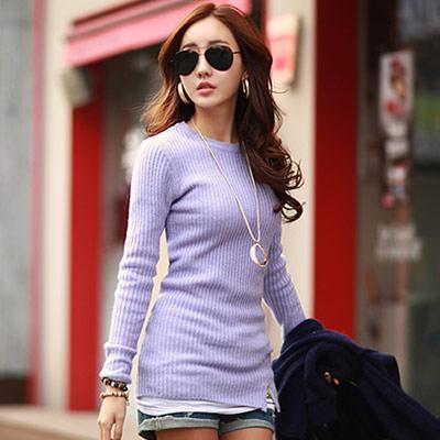 拉鍊點綴直紋坑條毛衣-共七色-N-C21