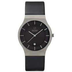 OBAKU 優雅時代極簡風腕錶-黑/皮帶/38mm