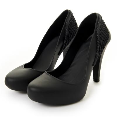 Melissa-天使之翼絕美高跟鞋-黑