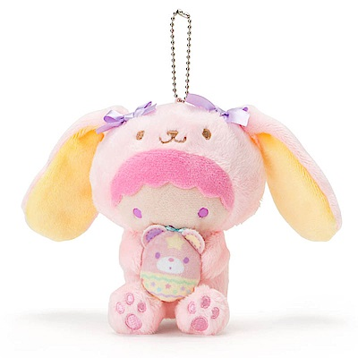 Sanrio 雙星仙子裝扮長耳兔造型玩偶吊鍊-LALA(好朋友彩蛋)