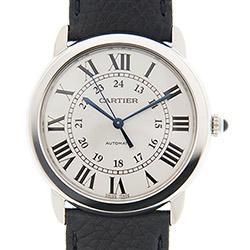 CARTIER RONDE SOLO WSRN0021經典中型機械皮帶腕錶x36mm