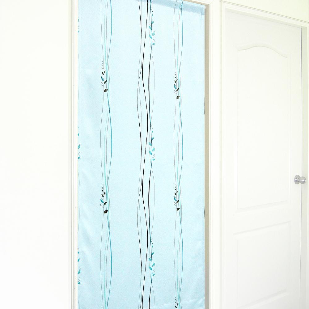 布安於室-波坦葉絲遮光風水簾-淺藍綠色