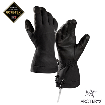 Arcteryx 始祖鳥 Fission GoreTex 防水保暖滑雪手套 黑