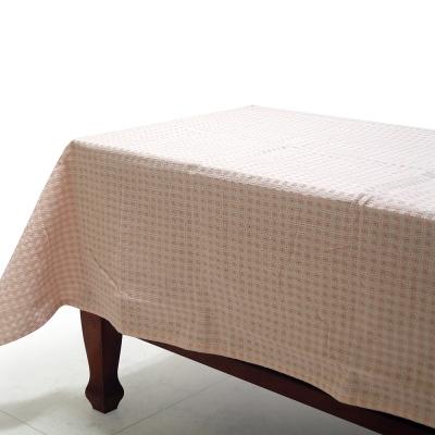 布安於室-小方眼方桌布-粉色(120*120cm)