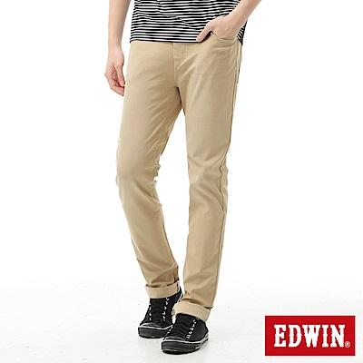 EDWIN AB褲 迦績褲JERSEYS涼感色褲-男-淺卡其