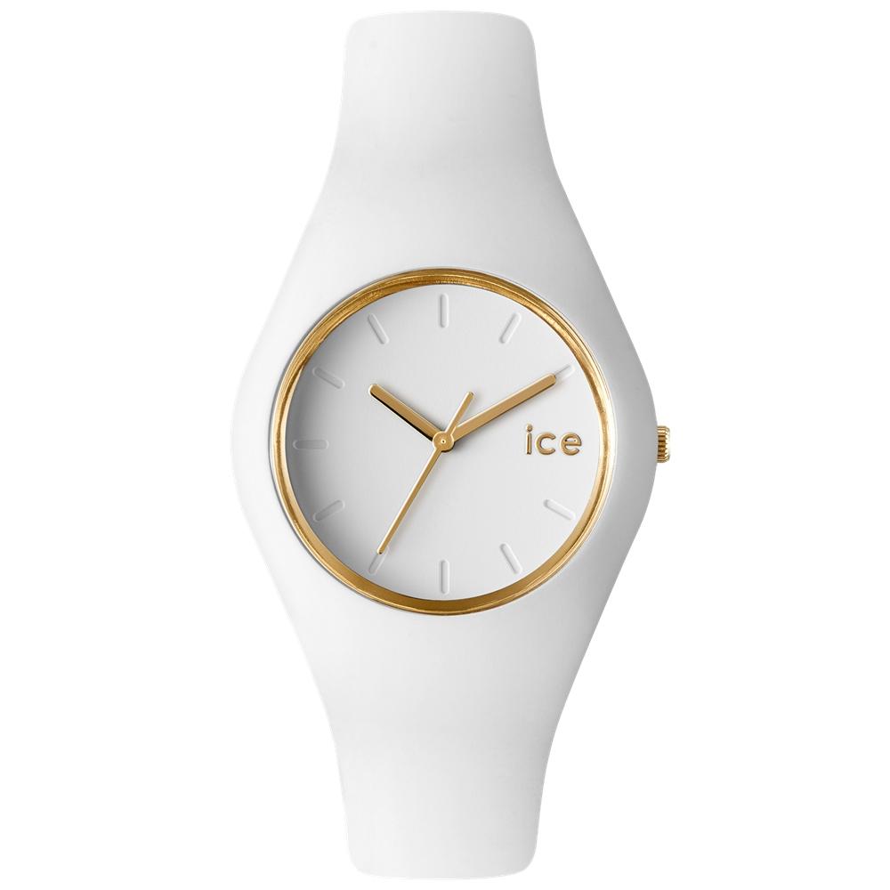 Ice-Watch 亮采系列 優雅名媛手錶-白x金/43mm