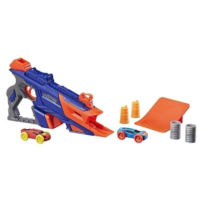 孩之寶Hasbro NERF系列 兒童射擊玩具 Nitro 極限射速賽車豪華發射組
