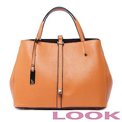 LOOK- Marjorie瑪喬麗-皮帶扣手提包-經典咖