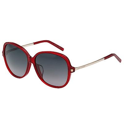 Saint Laurent Paris 復古圓面 太陽眼鏡(紅色)SL 23 F
