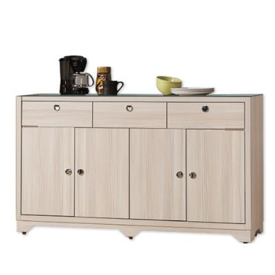 AS-Cfor5尺碗盤收納玻璃面餐櫃-150x41x90cm