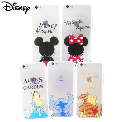 Disney迪士尼iPhone 6/6SPlus可愛透明保護軟套-背影