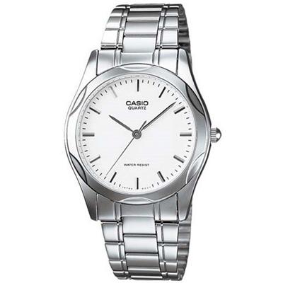 CASIO 時尚輝煌指針紳士錶(MTP-1275D-7A)-白色丁字面/35mm