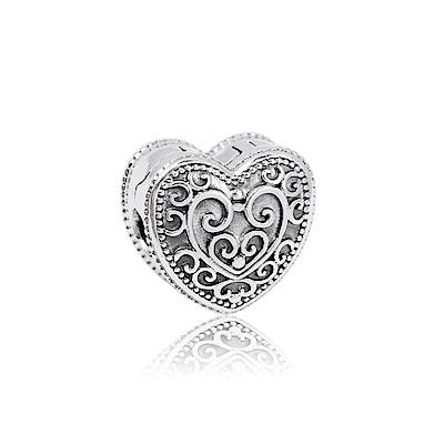 Pandora 潘朵拉 魔法愛心夾扣式 純銀墜飾 串珠