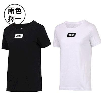 NIKE 耐吉 HOOK CREW LOGO圓領T恤 女 兩色擇一