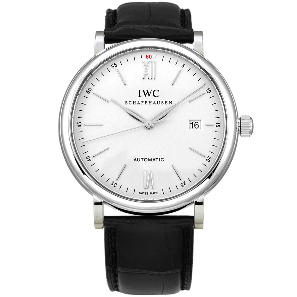 IWC 萬國錶 Portofino 柏濤菲諾系列經典白面機械腕錶(IW356501)-40mm
