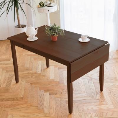 CiS自然行實木家具-單邊實木延伸桌74~142cm(焦糖色)