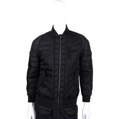 MONCLER 黑色拼接設計拉鍊外套