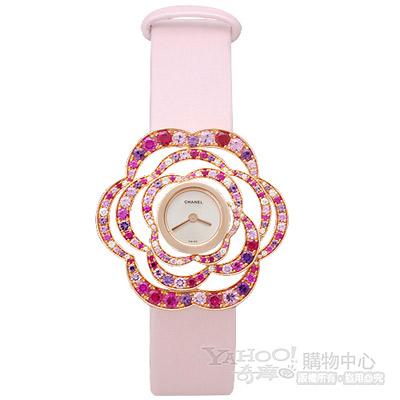 CHANEL H2677 Fil de Camélia立體山茶花女仕錶-玫瑰金/38mm