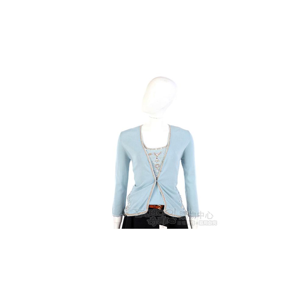 ROBERTA SCARPA 水藍色珠飾點綴兩件式上衣