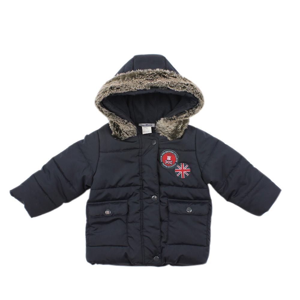 愛的世界 pappa&ciccia 防風舖棉搖粒絨長袖外套 6~10歲