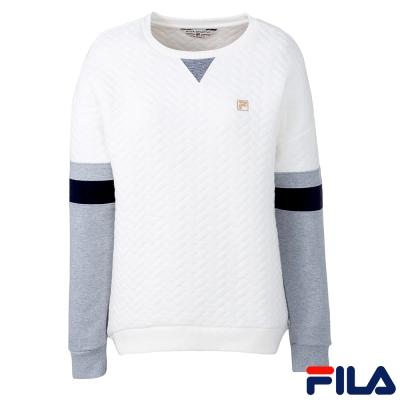 FILA女圓領T恤-米白-5TEQ-5711-IV