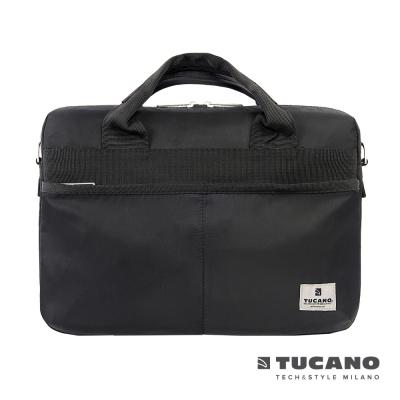 TUCANO Shine slim 13.3吋薄型輕便手提肩背二用電腦包-黑