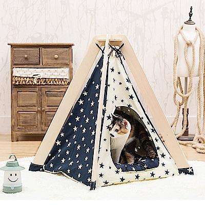 寵愛有家-火箭平頂星星設計款寵物帳蓬