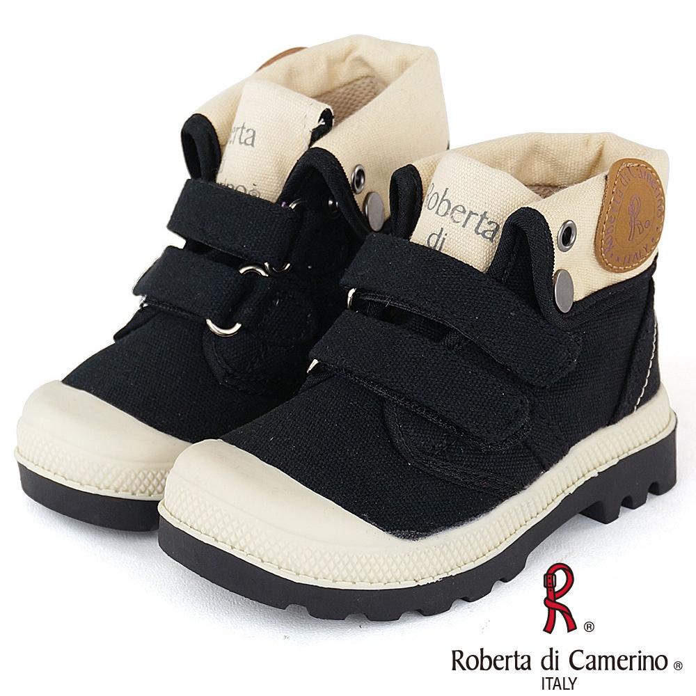 Roberta諾貝達 歐美小型男必備軍靴童鞋-黑(中大童)