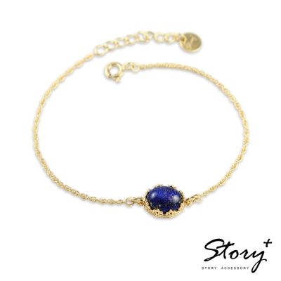 STORY故事銀飾-璽愛-天然寶石系列-絢爛 純銀手鍊