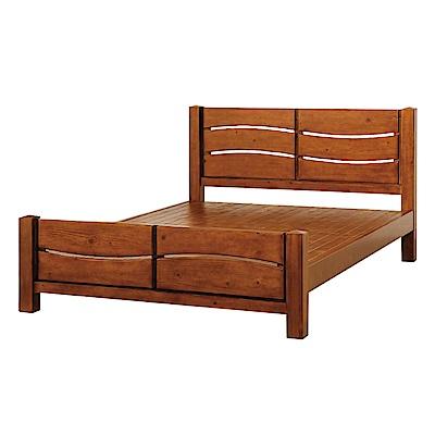 品家居 塔伯6尺實木雙人加大床架組合-185x204x94cm免組