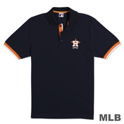 MLB-休士頓太空人隊經典隊徽電繡POLO衫-深藍(男)