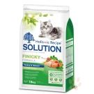 耐吉斯SOLUTION 綠茶成幼貓化毛配方1.5kg 2入