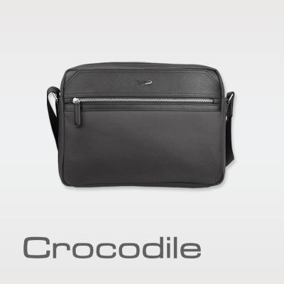 Crocodile Wind 2.0系列布配皮橫式斜背包(L)0104-08004