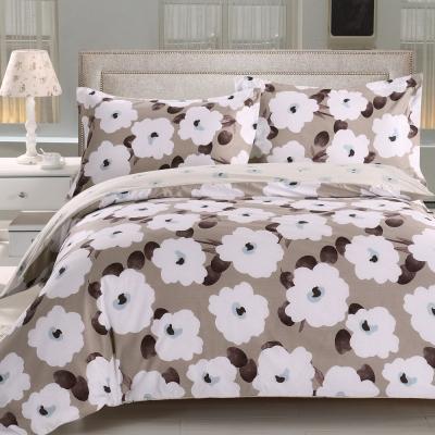 HOYACASA瑪莎之戀 加大四件式抗菌精梳棉兩用被床包組