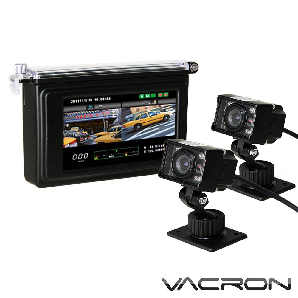 真相 分離式2路機車用行車記錄器 (限量炫黑版主機+SONY CCD紅外線夜視雙鏡頭)