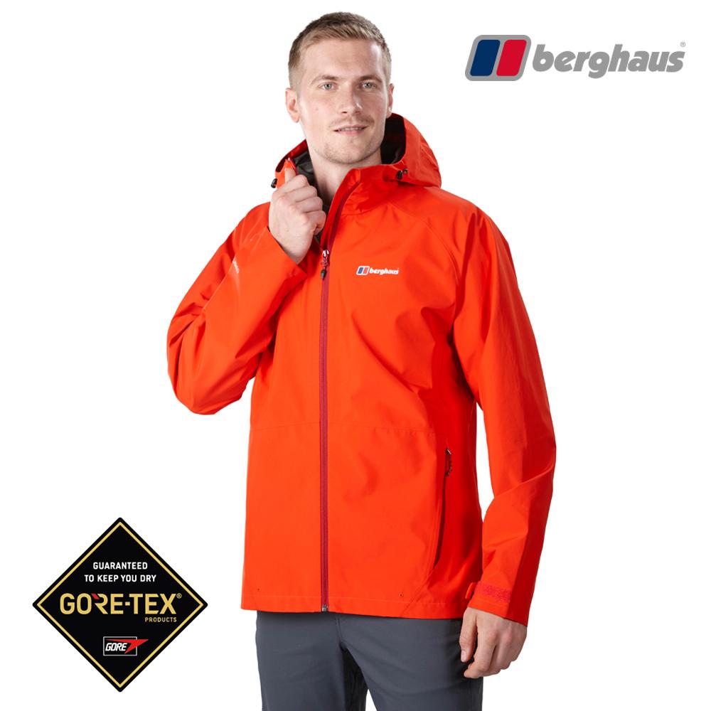 Berghaus貝豪斯男款GT輕量防水透氣連帽外套H22MV3火山紅