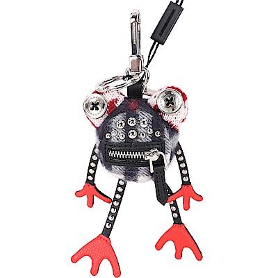 BURBERRY Doris 青蛙造型喀什米爾吊飾(黑x紅)
